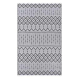 Couristan® Afuera Histone Indoor/Outdoor Area Rug in Grey/Black