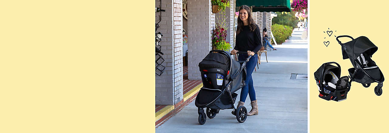 The BRITAX® B-Free Premium Travel System with Endeavours™ Infant Car Seat combines trusted BRITAX safety with stain-resistant, easy-clean Nanotex® technology.