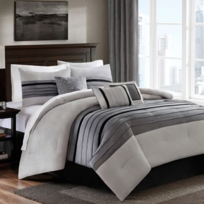 Dylan 6 7 Piece Comforter Set In Grey Bed Bath And