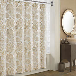 J. Queen New York™ Sandstone Shower Curtain in Ivory