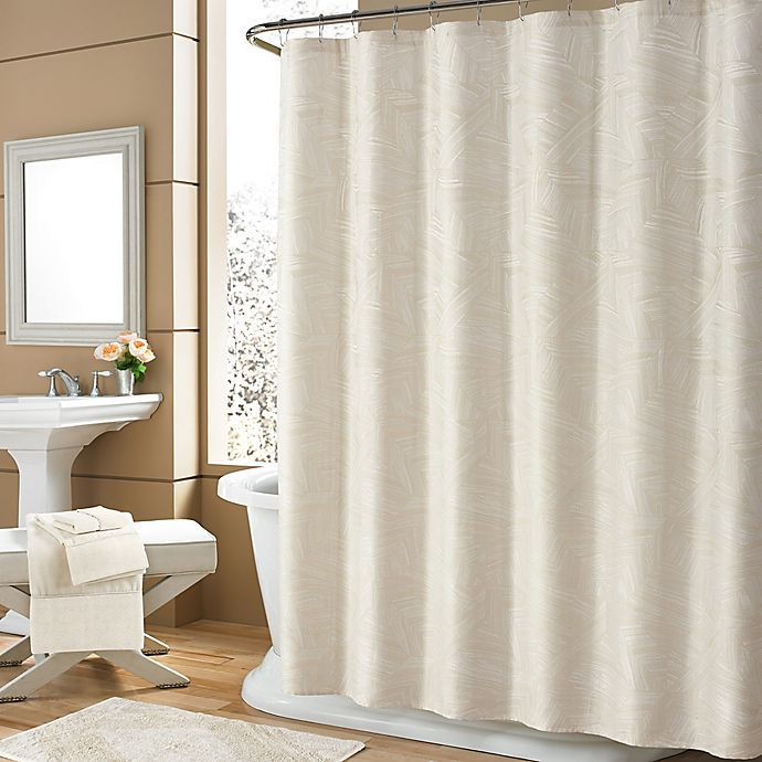 Alternate image 1 for Holland Shower Curtain Ivory Shower Curtain