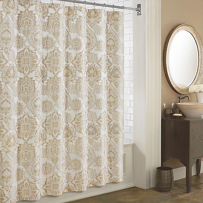 Alternate image 1 for J. Queen New York™ Sandstone Shower Curtain in Ivory