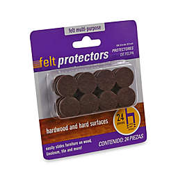 24-Count Hardwood and Hard Surfaces 7/8-Brown Felt Protectors