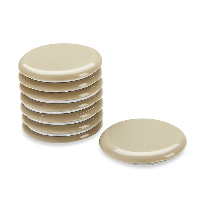 Alternate image 1 for Waxman 2.4-Inch Self-Stick Round Super Sliders (Set of 8)