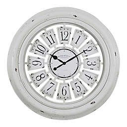 FirsTime® Farmhouse Plaque Wall Clock in Antique White