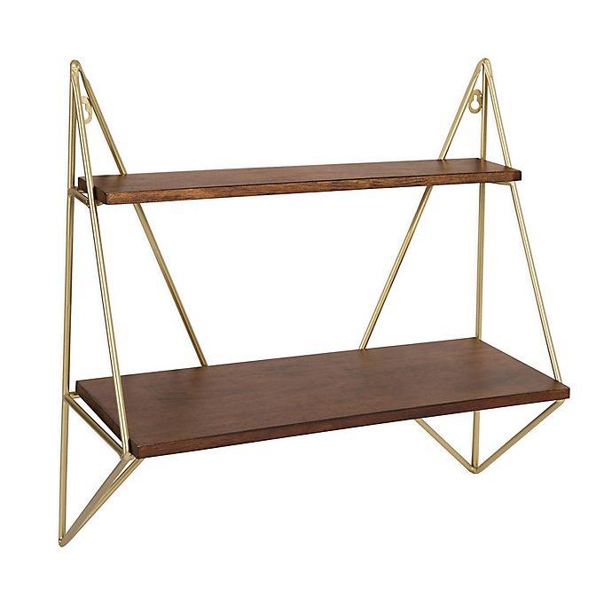 Alternate image 1 for Kate And Laurel® Melita Floating Shelf in Walnut/Brown