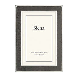 Siena™ 4-Inch x 6-Inch Faux Lizard Leather Narrow Picture Frame