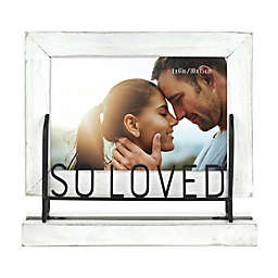 So Loved 4-Inch x 6-Inch Wood Picture Frame in White