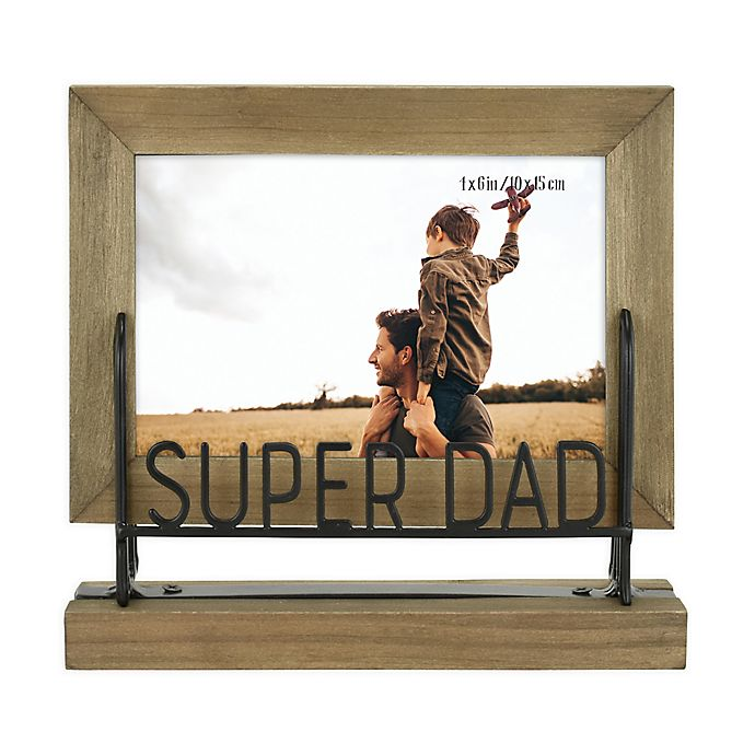 Alternate image 1 for Super Dad 4-Inch x 6-Inch Wood Picture Frame