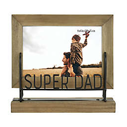 Super Dad 4-Inch x 6-Inch Wood Picture Frame