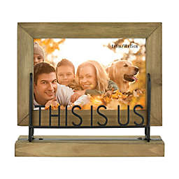 """""""This Is Us"""" 4-Inch x 6-Inch Wood Picture Frame"""