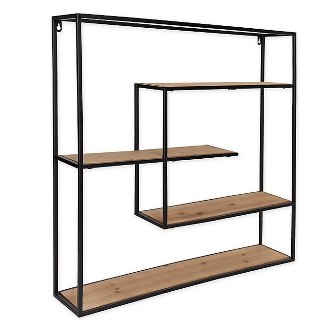 Alternate image 1 for Kate And Laurel™ Ulna Floating Wall Shelves in Rustic Brown