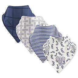 Touched by Nature® 4-Pack Bandana Organic Cotton Bibs