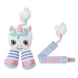 Booginhead® Plush PaciPal Unicorn with PaciGrip Pacifier Clip in Pink