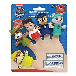 Nickelodeon™ 5-Piece Paw Patrol Finger Puppets Bath Toy Set