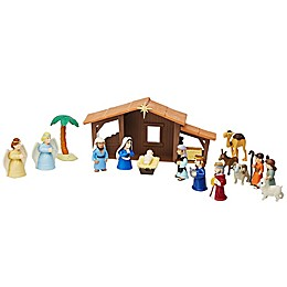 BibleToys 19-Piece Nativity Play Set with Book