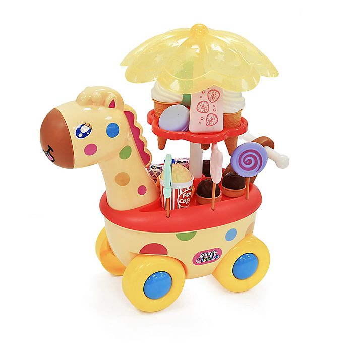 Alternate image 1 for Hauck Giraffe Play Candy and Ice Cream Food Cart Walker with LED Lights