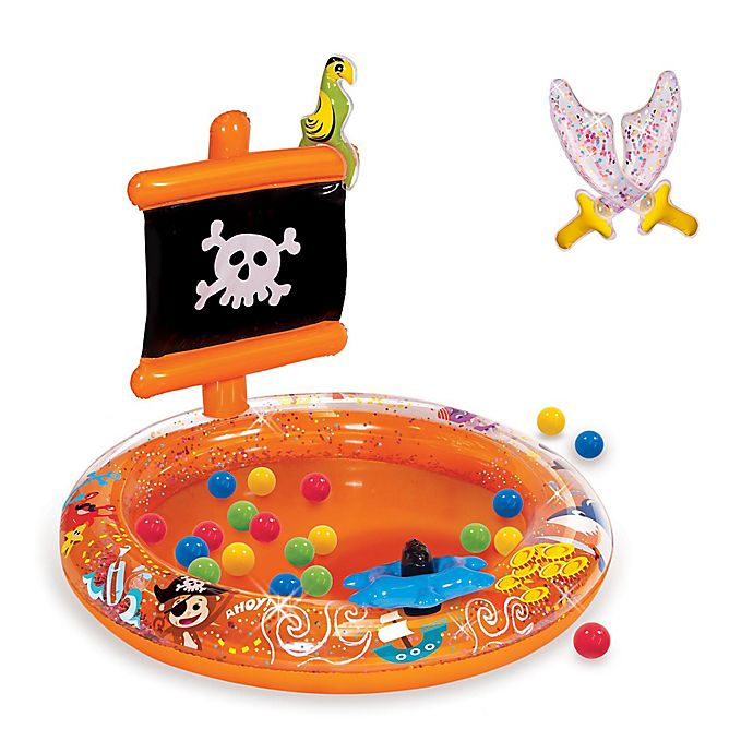 Alternate image 1 for Banzai Pirate Sparkle Inflatable Ball Pit with Soft-Touch Balls and Swords