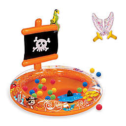 Banzai Pirate Sparkle Inflatable Ball Pit with Soft-Touch Balls and Swords