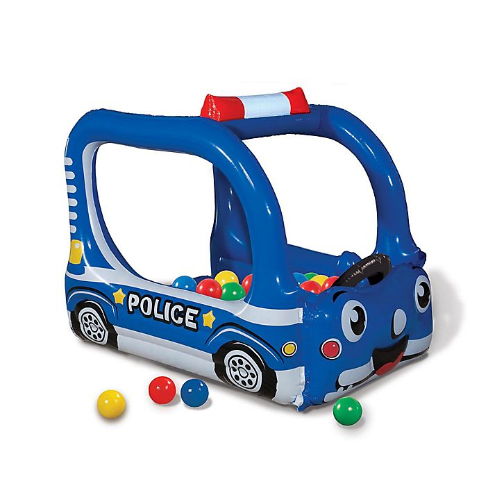 Alternate image 1 for Banzai Police Patrol Time Inflatable Ball Pit