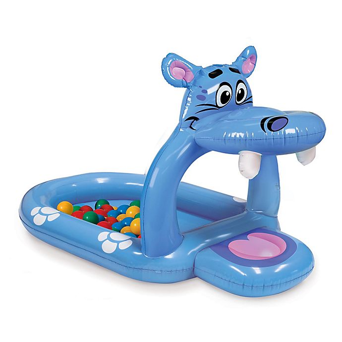 Alternate image 1 for Banzai Happy Hippo Inflatable Ball Pit