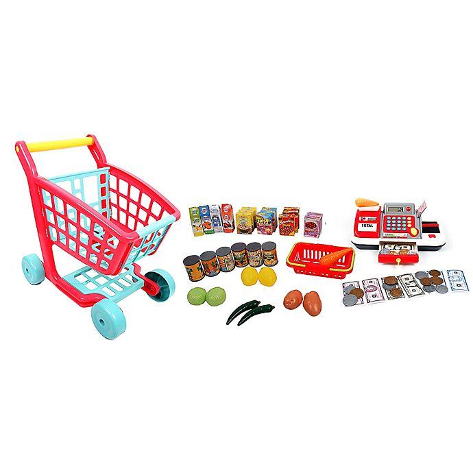 Alternate image 1 for Gi-Go Deluxe Shopping Cart and Cash Register Set