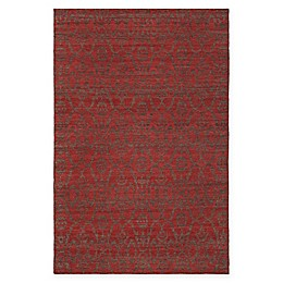 Chandra Rugs Winnie Abstract Handcrafted Area Rug in Red