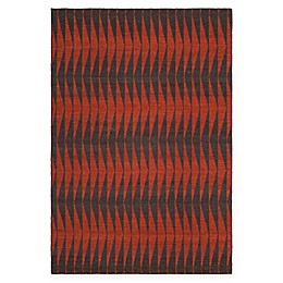 Chandra Rugs Winnie Absract Line Handcrafted Area Rug in Red/Grey