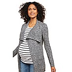 Motherhood Maternity® Medium Drape Collar Maternity Cardigan in Grey