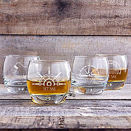 Cathy's Concepts Nautical Whiskey Glasses (Set of 4)