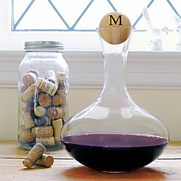 Cathy's Concepts Hourglass Wine Decanter with Wooden Stopper