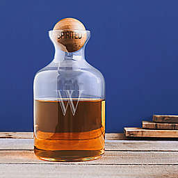 Cathy's Concepts Whiskey Decanter with Wooden Ball Stopper