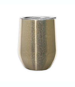 Vaso para vino de acero inoxidable Cheers™ Oggi™ con brillos dorados