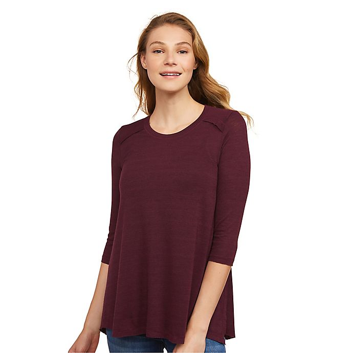 Alternate image 1 for Motherhood Maternity® Jessica Simpson Side Access Nursing Top