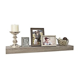 Wall Solutions Gallery 30-Inch Rustic Wood Ledge in Rustic Grey