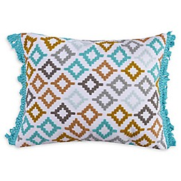 Levtex Home Cressley Fringe Oblong Throw Pillow in White