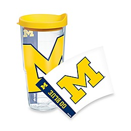 Tervis® University of Michigan Wolverines 24-Ounce Wrap Tumbler with Yellow Lid