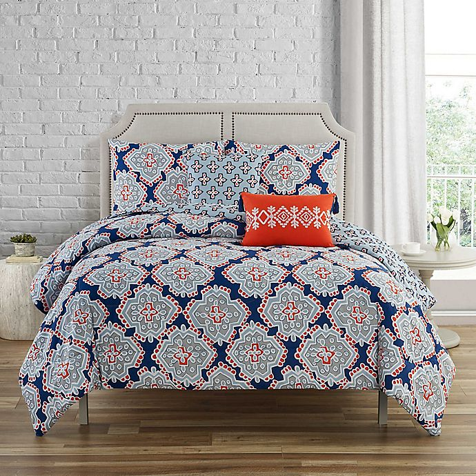 Alternate image 1 for C. Wonder Artistic Geo 5-Piece Reversible Comforter Set