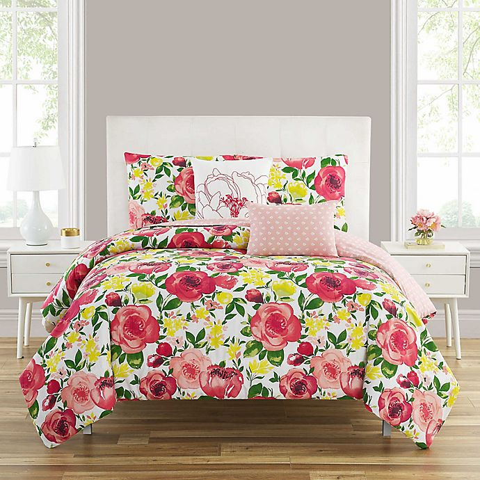 Alternate image 1 for C. Wonder Berenice 5-Piece Reversible Comforter Set