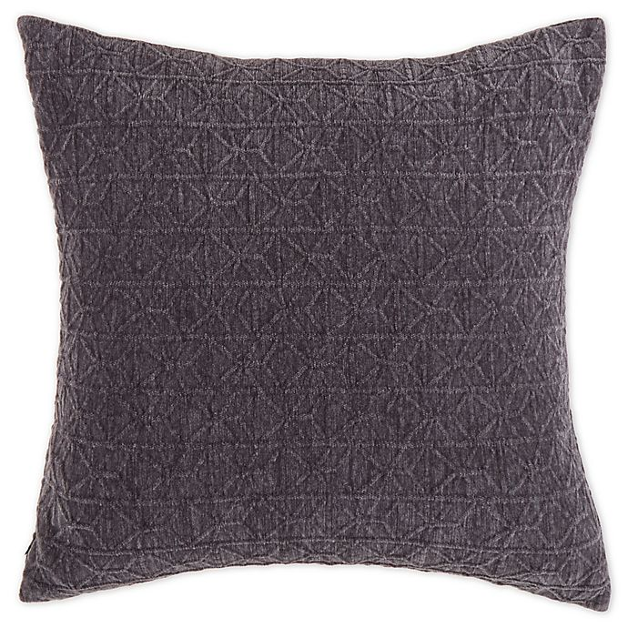 Alternate image 1 for Bee & Willow™ Home Chenille Jacquard Square Throw Pillow in Charcoal