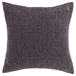 Bee & Willow™ Home Chenille Jacquard Square Throw Pillow in Charcoal