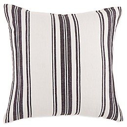 Bee & Willow™ Home Ticking Stripe Square Throw Pillow in White/Black