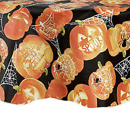 ELRENE Glowing Jack-O'-Lanterns 70-Inch Round Tablecloth