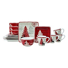 222 Fifth Northwood Cottage 16-Piece Dinnerware Set