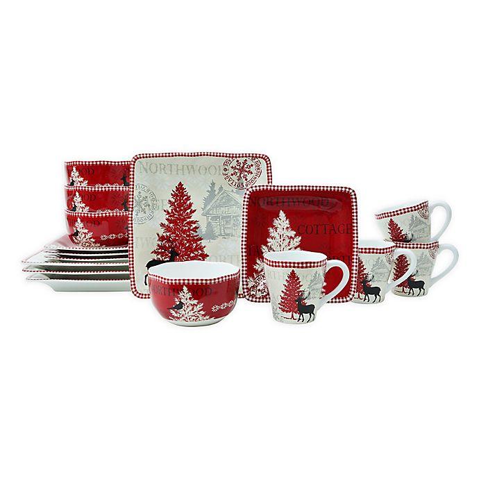 Alternate image 1 for 222 Fifth Northwood Cottage 16-Piece Dinnerware Set