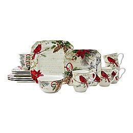 222 Fifth Holiday Wishes 16-Piece Dinnerware Set