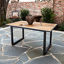 Holly & Martin Vildon Outdoor Dining Table in Grey/Natural