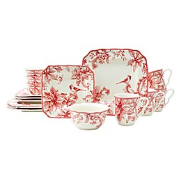 222 Fifth Christmas Lane 16-Piece Dinnerware Set