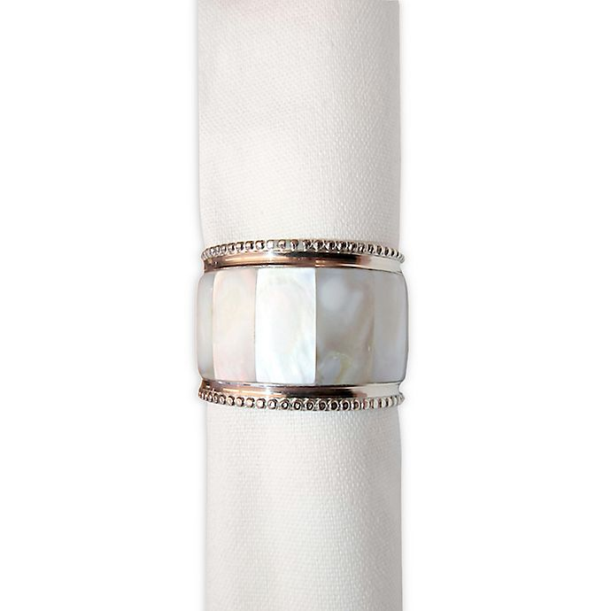 Alternate image 1 for Mother of Pearl Napkin Ring