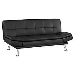 Serta® Union Euro Sofa in Black